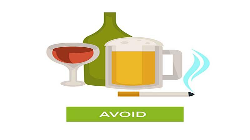 از استعمال سیگار و مصرف الکل خودداری کنید